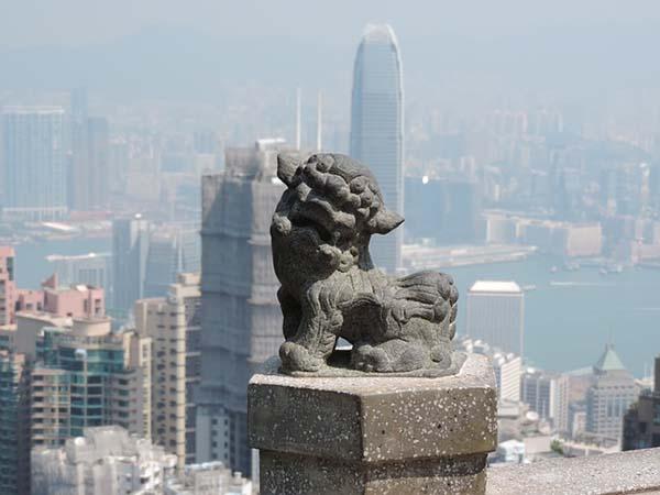 Hong Kong China lion-600