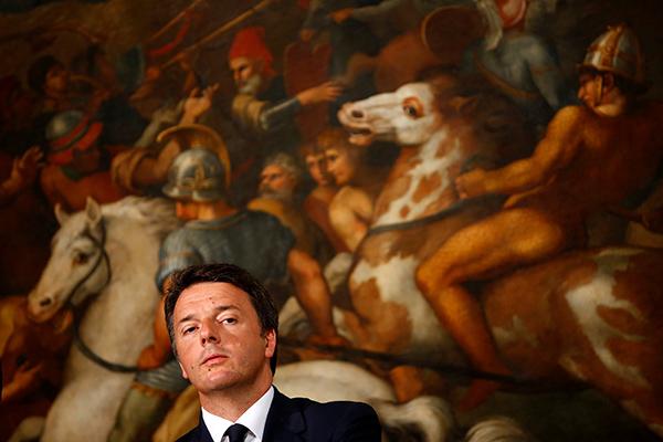 Matteo Renzi painting-R-600