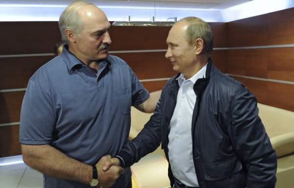 Putin and Lukashenko envelope
