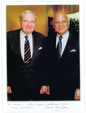Nemir Kirdar and David Rockefeller-300