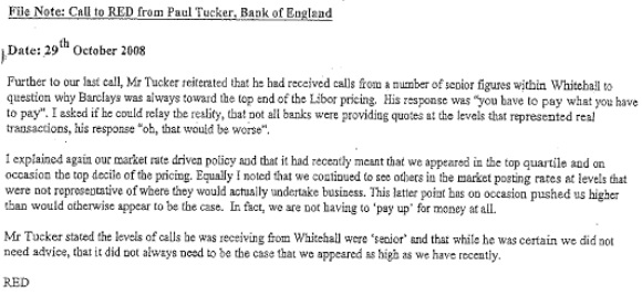 Barclays libor email