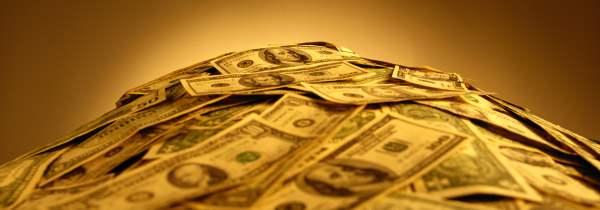 dollars heap envelope
