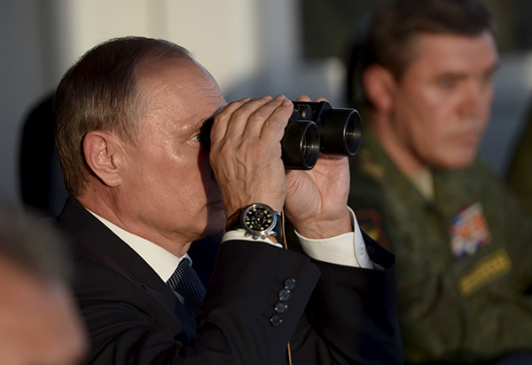Vladimir Putin binoculars-R-600