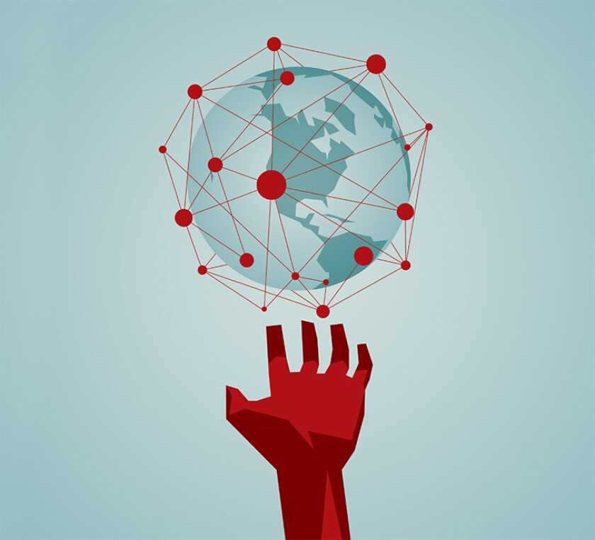 World, hand, digital, 780