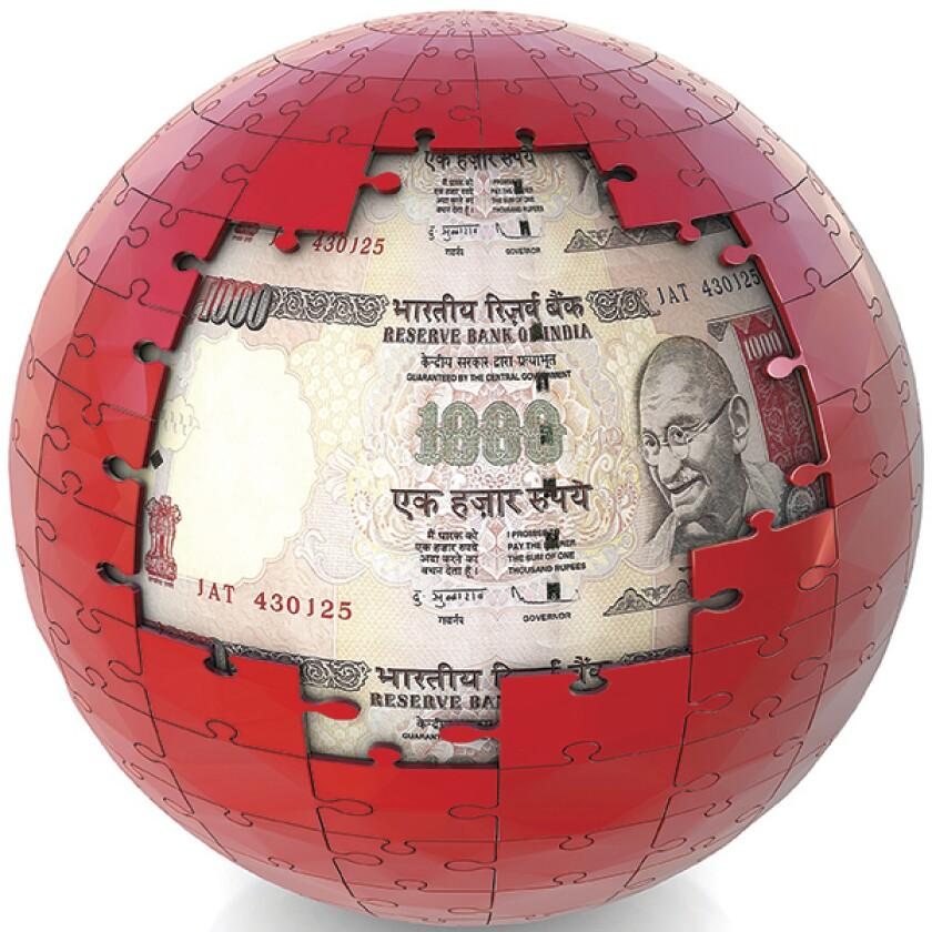 India jigsaw globe rupee-600